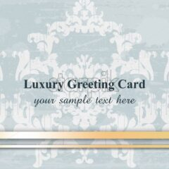 Luxury greeting card Vector. Baroque ornament background