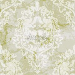Vintage Baroque ornament pattern Vector. Royal decor. Imperial background. trendy color texture