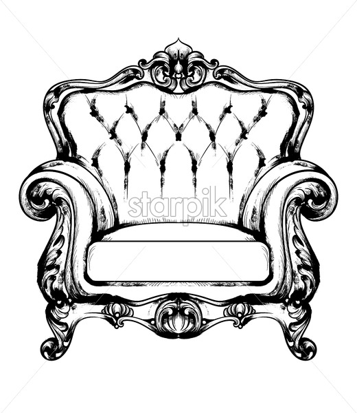 Baroque Furniture Rich Armchair Royal Style Decotations Victorian