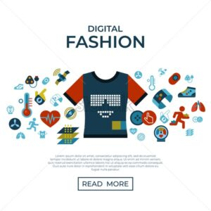 Digital vector smart clothes fashion gadget technology icons set infographics - starpik