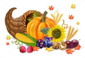 Fall harvest Vector realistic. Pumpkin, and sunflower. Autumn 3d detailed symbols illustration - starpik