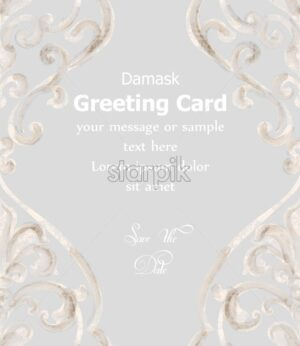 Greeting card ornamented watercolor Vector. Royal luxury texture. Elegant decor design with old grunge effect - starpik