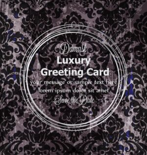 Luxury card vintage baroque style Vector. Rich ornament background decoration. Old ruined effects. dark color - starpik