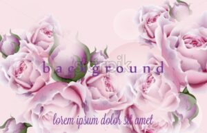 Rose flowers Vector. Pink floral pattern watercolor style decor - starpik