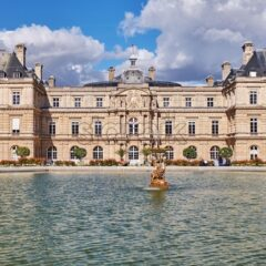 The Luxembourg Gardens at daylight, Paris, France