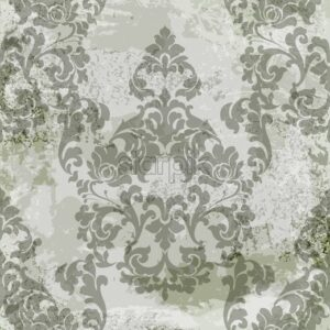 Vintage baroque card background Vector. Luxury ornament background decoration. Old ruined effects. Khaki delicate color - starpik