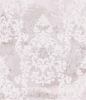 Vintage baroque card background Vector. Luxury ornament background decoration. Old ruined effects. Pink powder delicate color - starpik
