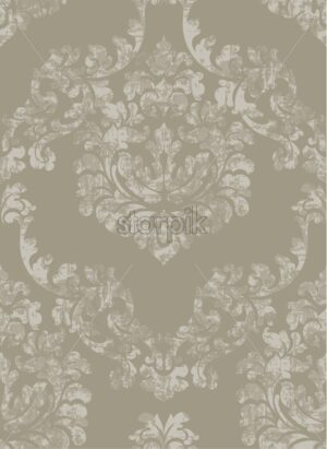Vintage baroque ornamented background Vector. Royal luxury texture. Elegant decor design in old grunge style. Brown caramel color - starpik