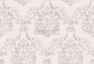 Vintage baroque ornamented background Vector. Royal luxury texture. Elegant decor design in old grunge style. Pastel color - starpik