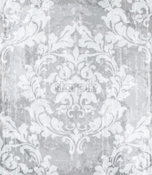 Vintage baroque ornamented background Vector. Royal luxury texture. Elegant decor design with old grunge effect - starpik