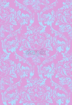 Vintage baroque ornamented background Vector. Royal luxury texture. Elegant decor design with old grunge styles. Pink bright color - starpik