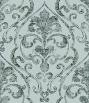 Vintage baroque ornamented background watercolor Vector. Royal luxury texture. Elegant decor design with old grunge styles. Pastel color - starpik