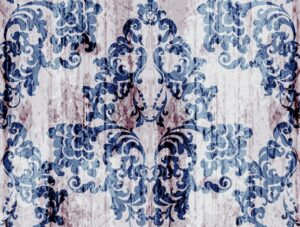 Vintage baroque pattern Vector. Luxury ornament background decoration. Old ruined effects. blue color - starpik