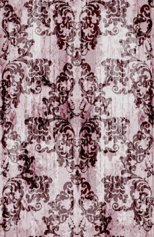 Vintage baroque pattern Vector. Luxury ornament background decoration. Old ruined effects. burgundy color - starpik