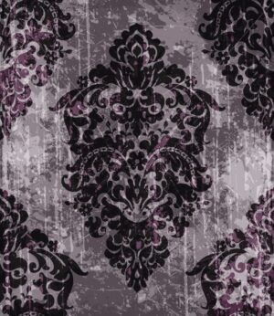 Vintage baroque pattern Vector. Luxury ornament background decoration. Old ruined effects. dark burgundy color - starpik