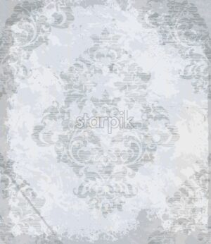 Vintage baroque pattern Vector. Luxury ornament background decoration. Old ruined effects. gray light color - starpik