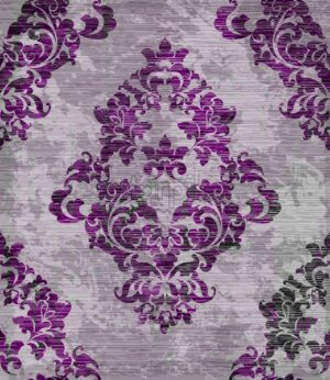 Vintage baroque pattern Vector. Luxury ornament background decoration. Old ruined effects. violet color - starpik
