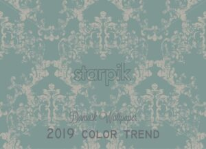 Vintage ornamented pattern Vector. Old style Victorian flourish texture. Grunge decorative design. Light color - starpik