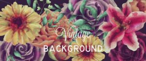 Vintage watercolor flowers background Vector. Gerbera, lily and roses floral composition - starpik