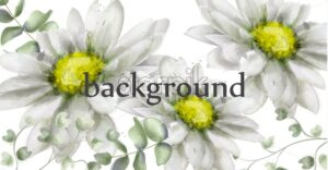 White daisy flowers background watercolor Vector. Beautiful vintage pastel colors floral decor banner - starpik
