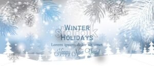 Winter background snowflakes Vector. Blue and gray snowflakes frozen decor - starpik