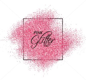 Pink glitter effect Vector realistic. Shiny texture. Detailed 3d illustration. Glowing decor template - starpik