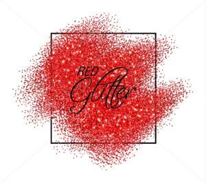 Red glitter effect Vector realistic. Shiny texture. Detailed 3d illustration. Glowing decor template - starpik