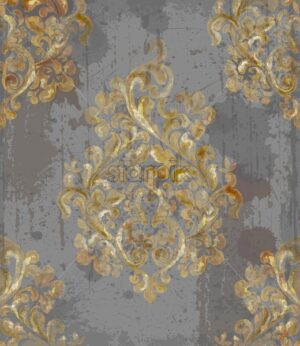 Vintage baroque pattern Vector. Imperial Beautiful ornament decor. Royal luxury texture background. Trendy golden - starpik