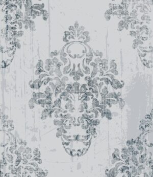 Vintage baroque pattern Vector. Imperial Beautiful ornament decor. Royal luxury texture background. Trendy gray color - starpik