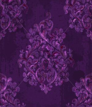 Vintage baroque pattern Vector. Imperial Beautiful ornament decor. Royal luxury texture background. Trendy purple color - starpik