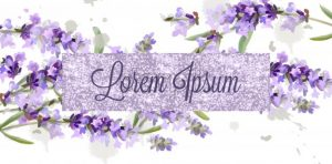 Lavender card watercolor Vector. Flowers bouquet background. Spring delicate banner. Wedding invitation, Women day, birthday template - starpik