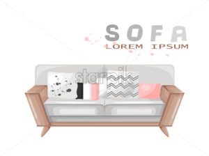 Modern sofa isolated Vector. Furniture icon design. Sale decorations. - starpik