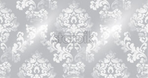 Rococo texture pattern Vector. Floral ornament decoration old effect. Victorian engraved retro design. Vintage fabric decor. Gray color - starpik