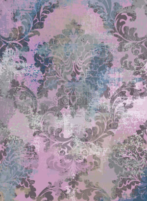 Rococo texture pattern Vector. Floral ornament decoration old effect. Victorian engraved retro design. Vintage fabric decors. Pink color - starpik