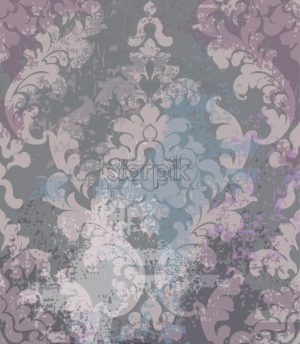 Rococo texture pattern Vector. Floral ornament decoration old effect. Victorian engraved retro design. Vintage fabric decors. Pink dark colors - starpik