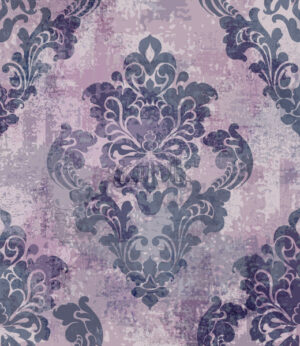 Rococo texture pattern Vector. Floral ornament decoration old effect. Victorian engraved retro design. Vintage fabric decors. Violet color - starpik