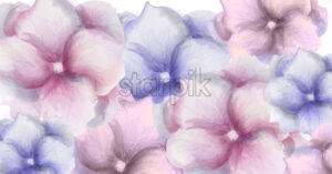 Watercolor flowers banner Vector. Beautiful wedding or birthday floral decoration. Invitation card template - starpik
