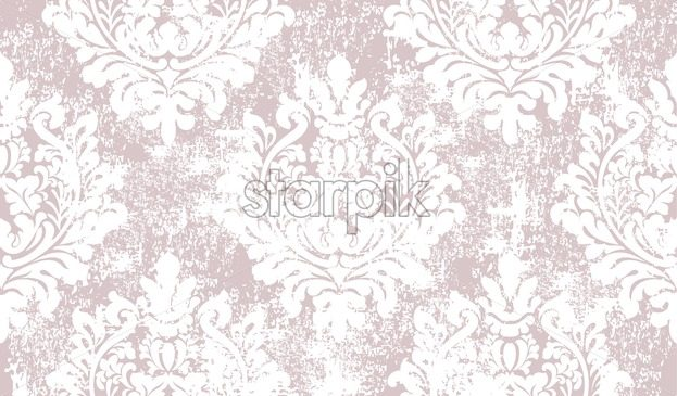 Baroque grunge texture pattern Vector. Floral ornament decoration old effect. Victorian engraved retro design. Vintage fabric decors. Luxury fabric light pink color - starpik