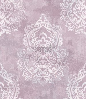 Baroque grunge texture pattern Vector. Floral ornament decoration old effect. Victorian engraved retro design. Vintage fabric decors. Luxury fabric pink color - starpik