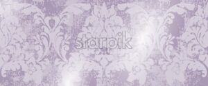 Baroque texture pattern Vector. Floral ornament decoration old effect. Victorian engraved retro design. Vintage fabric decors. Luxury fabric lavender color - starpik