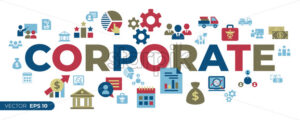 Business corporate stakeholder and company strategy icons infographics, digital vector - starpik