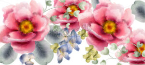 Flowers Vector watercolor. Beautiful exotic background decor - starpik