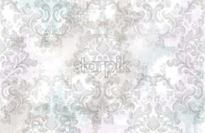 Baroque texture pattern Vector. Floral ornament decoration. Victorian engraved retro design. Vintage grunge fabric decors. Luxury fabric lavender color - starpik