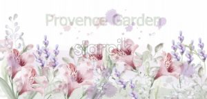 Provence flowers garden Vector watercolor. Lavender delicate pastelate color - starpik