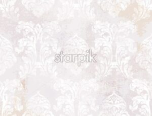 Royal Baroque texture pattern Vector. Floral ornament decoration. Victorian engraved retro design. Vintage grunge fabric decors. Luxury fabric - starpik