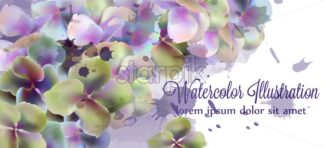 Spring flowers watercolor Vector. Beautiful wedding invitation, ceremony, save the date, greeting - starpik