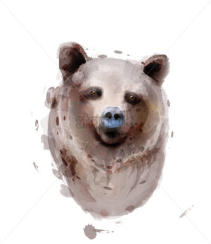 Bear Vector watercolor isolated on white. Wildlife animals illustration - starpik