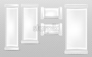 Chocolate bars empty templates collection Vector realistic. Product packaging container isolated. 3d detailed illustration - starpik