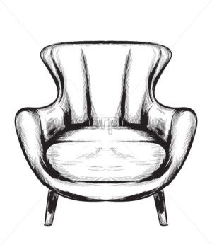 Rich baroque armchair Vector. Retro style furniture. Vintage design - starpik