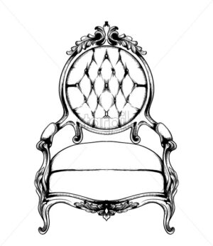 Baroque armchair Vector. Imperial style furniture. Vintage design - starpik